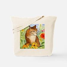 Orange Stripey Tabby Cat Tote Bag