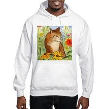 Orange Stripey Tabby Cat Hoodie