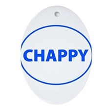 Chappy Oval Ornament
