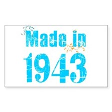 Made in 1943 Rectangle Decal