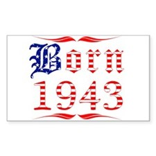 Born All American 1943 Rectangle Decal