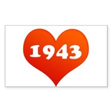 Love 1943 Rectangle Decal