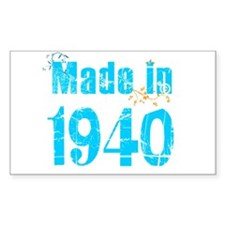 Freshly Made in 1940 Rectangle Decal