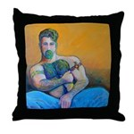 Woof Daddy Throw Pillow