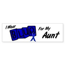 I Wear Blue Aunt Colon Cancer Bumper Bumper Sticker