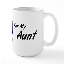I Wear Blue Aunt Colon Cancer Mug