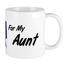 I Wear Blue Aunt Colon Cancer Mug