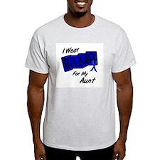 I Wear Blue Aunt Colon Cancer Shirt T-Shirt