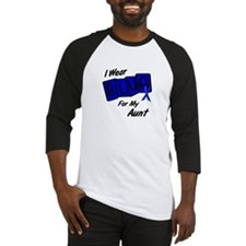 I Wear Blue Aunt Colon Cancer Shirt Baseball Jerse