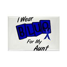 I Wear Blue Aunt Colon Cancer Rectangle Magnet