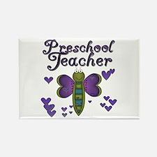 Butterfly Preschool Teacher Rectangle Magnet