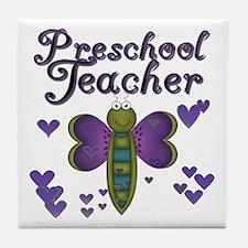 Butterfly Preschool Teacher Tile Coaster
