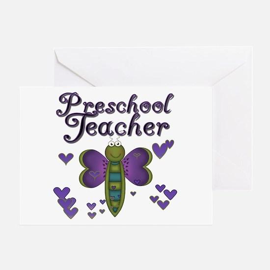 Butterfly Preschool Teacher Greeting Card
