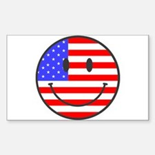 JULY 4TH PEACE Rectangle Decal