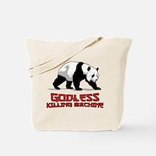 Cute Nerd panda Tote Bag