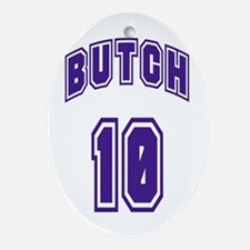 Butch 10 Oval Ornament