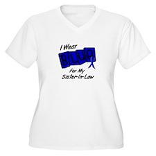 I Wear Blue Sister-In-Law Colon Cancer Shirt Women
