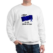 I Wear Blue Sister-In-Law Colon Cancer Sweatshirt