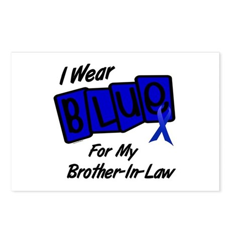 I Wear Blue Brother-In-Law Colon Cancer Postcards