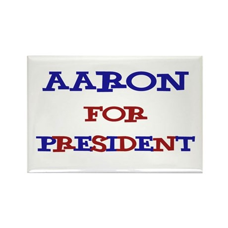 Aaron for President Rectangle Magnet