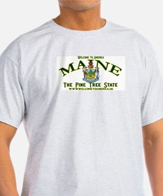 Maine Ash Grey T-Shirt