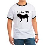 P is for Pug (Men's) Ringer T