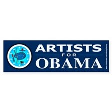 ARTISTS FOR OBAMA Bumper Sticker (50 pk)