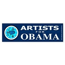 ARTISTS FOR OBAMA Bumper Bumper Sticker
