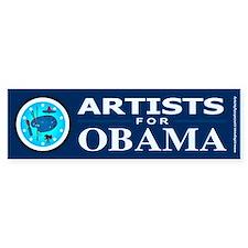 ARTISTS FOR OBAMA Bumper Car Sticker