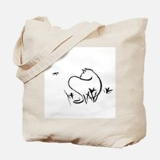 Cat with Dragonfly Tote Bag