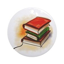 Unique Book Ornament (Round)