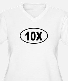 10X Womes Plus-Size V-Neck T-Shirt