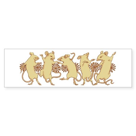 Dancing Mice Bumper Sticker