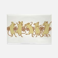 Dancing Mice Rectangle Magnet