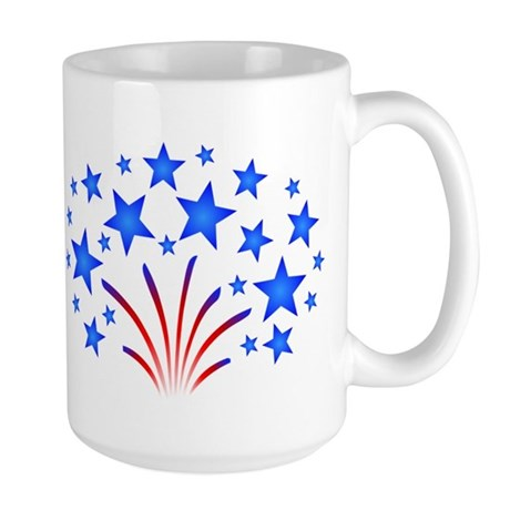 Stars & Stripes 4th of July Large Mug
