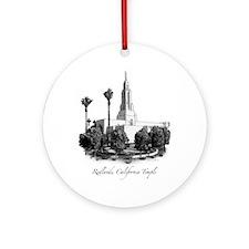 Redlands, California Temple Ornament (Round)