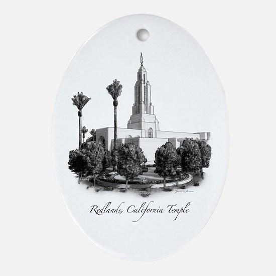 Redlands, California Temple Oval Ornament