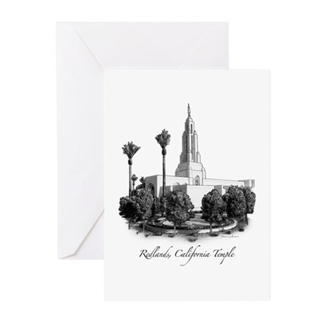Redlands, California Temple Greeting Cards (Pk of