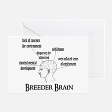 Breeder Brain Greeting Card