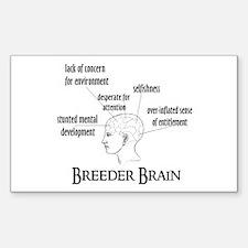 Breeder Brain Rectangle Decal