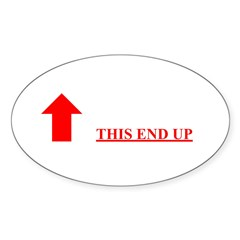 This End Up Oval Sticker (10 pk)
