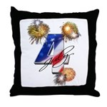 4 July fireworks Throw Pillow