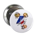 "4 July fireworks 2.25"" Button (10 pack)"