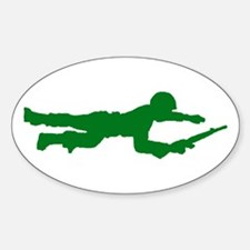 Crawling Toy Soldier Oval Decal
