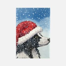 His Holiday Hat in the Snow Rectangle Magnet