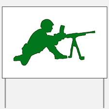 Machine Gunner Toy Soldier Yard Sign