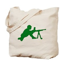 Machine Gunner Toy Soldier Tote Bag