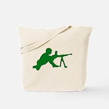 Machine Gunner Toy Soldier Tote Bag