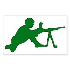 Machine Gunner Toy Soldier Rectangle Decal