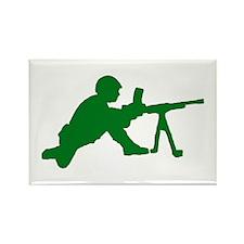 Machine Gunner Toy Soldier Rectangle Magnet